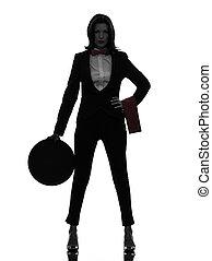 woman waiter butler silhouette