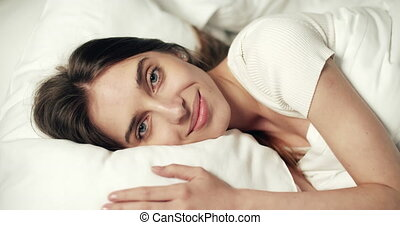 Woman Waking Up