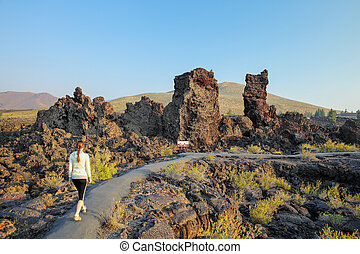 North Crater Flow Trail, Craters of the Moon National Monument, Idaho, USA