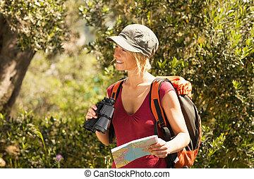 woman, wandert