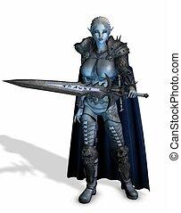 woman warrior - 3d render