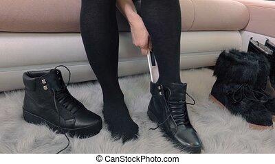 Woman wear boots