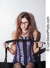 Woman wearing eyeglasses