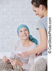 Woman wearing headscarf and friend