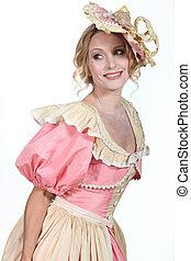 Woman wearing traditional dress