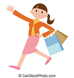 Woman who shops