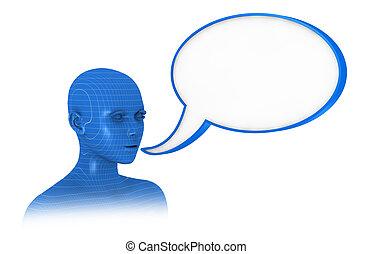 woman who speaks
