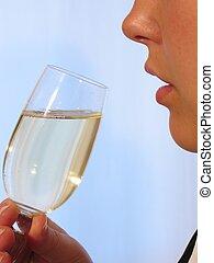 Woman Wine I