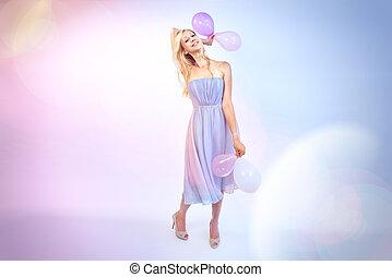 woman wishes happy birthday