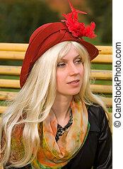 woman with a beautiful headdress