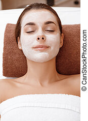 Woman with a beauty mask