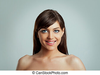 woman with a big smile