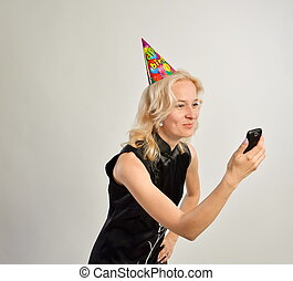 woman with a cell phone