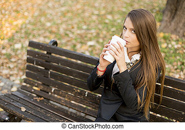Woman with a coffee