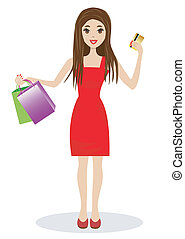 woman with a credit card