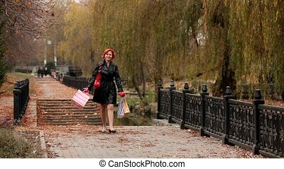Woman With A Good Mood - Happy woman with a good mood going...