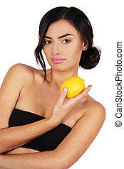 Woman with a lemon