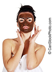 Woman with a mask on his face