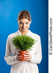 Woman with a Plant