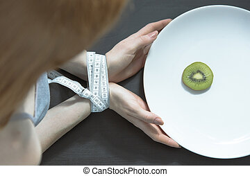 Woman with an eating disorder