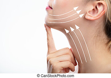 Woman With Arrows On Her Face
