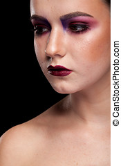 Woman with artistic professional make up