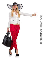 Woman with bag in fashion concept