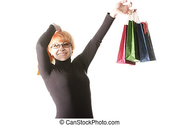 Woman with bags