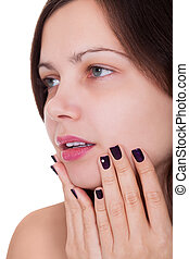 Woman with beautiful nails
