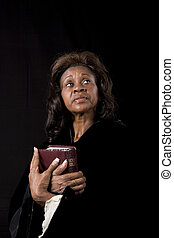 Woman with Bible Eyes