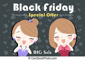 woman with black friday