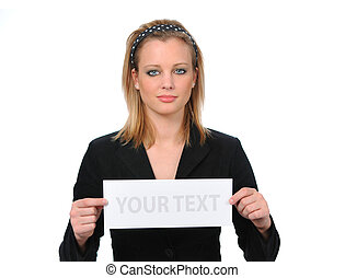Woman With Blank Ad