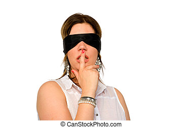 Woman with blindfold