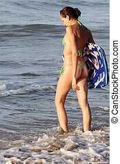 Woman with boogie board