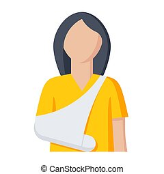 Woman with Broken Arm - Woman with broken arm for ...