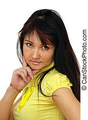 woman with brown hair