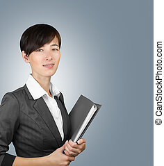Woman with business documents