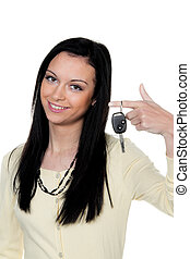 woman with car keys