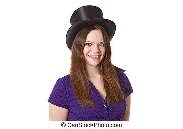 Woman with Chapeu Claque