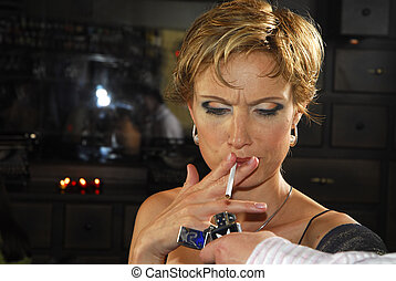 Woman with cigarette 5