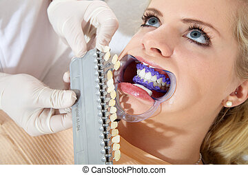 woman with cosmetic dental