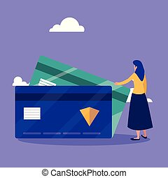 woman with credit card ecommerce