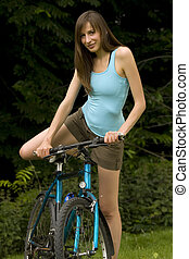 Woman with cycle