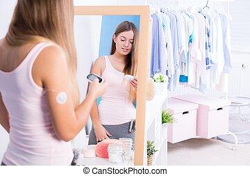 Woman with diabetes type 1