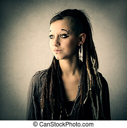 Woman with dreadlocks - Young woman with dreadlocks