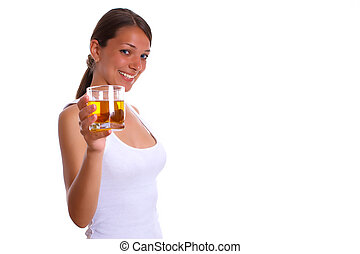 Woman with drink 2