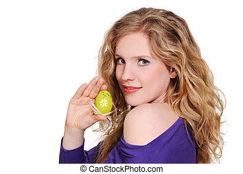 Woman with easter egg