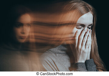 Woman with emotional problems