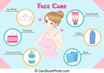 woman with face care