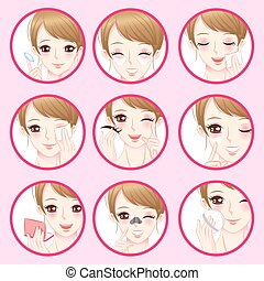 woman with facial skin concept